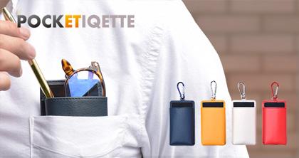 メガネも入る胸ポケット専用ペンケース「ポケチケット」